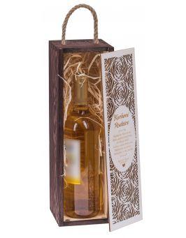 Pudełko na wino Carmen premium palisander + biała zasuwka
