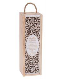 Pudełko na wino CARMEN PREMIUM + biała zasuwka, grawer