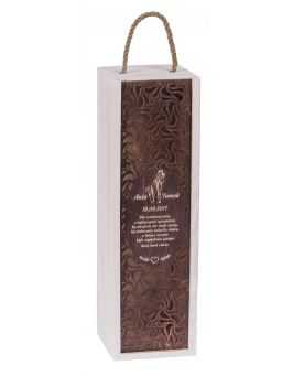 Pudełko CARMEN PREMIUM białe + palisander zasuwka