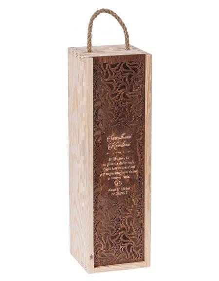 Pudełko CARMEN PREMIUM + zasuwka orzech