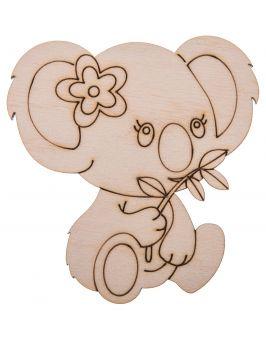 Miś koala drewniany