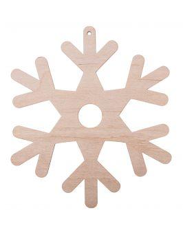 Zawieszka świąteczna płatek śniegu S16 16x14cm