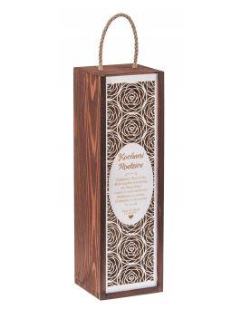 Pudełko Carmen PREMIUM orzech + biała zasuwka