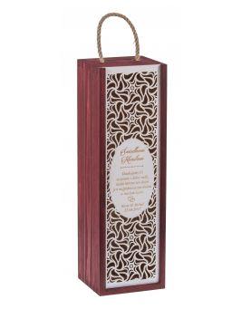 Pudełko Carmen PREMIUM mahoń + biała zasuwka