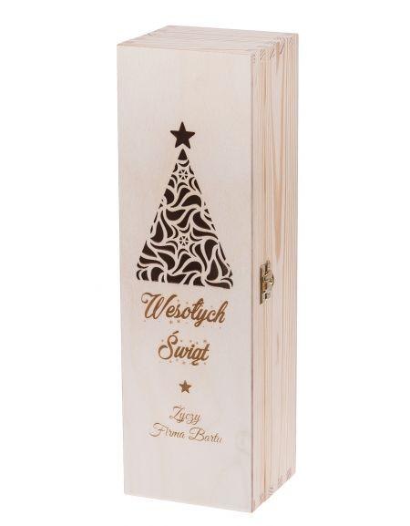 Skrzynka Pudełko Na Wino Boże Narodzenie Carmen Ii Grawer Bartupl