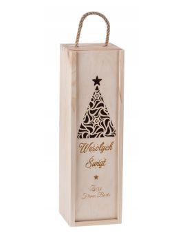 Pudełko skrzynka na wino Boże Narodzenie Carmen premium