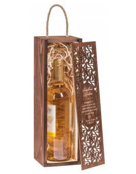 Pudełko na wino Carmen PREMIUM orzech