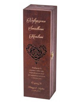 Pudełko skrzynka na wino Carmen II orzech + GRAWER