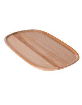 Talerz drewniany owalny duży 31x20cm EKO
