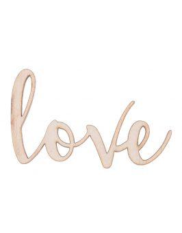 """Drewniany napis """"Love"""" 2"""