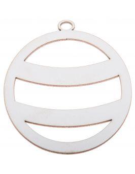Zawieszka świąteczna biała - Bombka B1