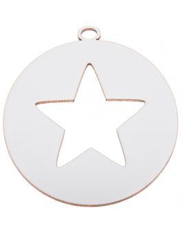 Zawieszka świąteczna biała - Bombka z gwiazdką B5