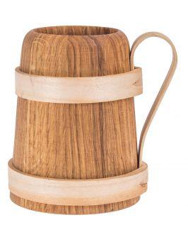 Kufel wąski drewniany