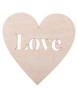 """Drewniane serce 10x10 """"LOVE"""""""