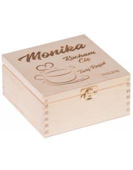 Pudełko na herbatę Nela 4z z GRAWEREM