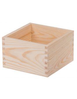 Drewniany pojemnik organizer 16x16x10 cm