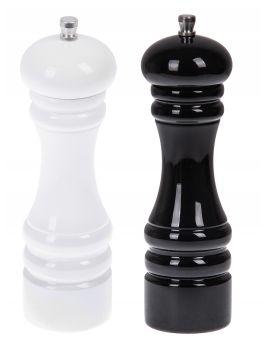 Młynki do przypraw - biały i czarny - 2sztuki