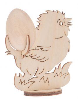 Podstawka kurczaczek + jajo drewniane