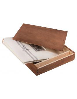 Pudełko na album i pendrive ORZECH