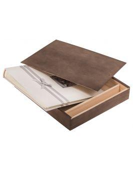 Pudełko na album i pendrive ciemny brąz