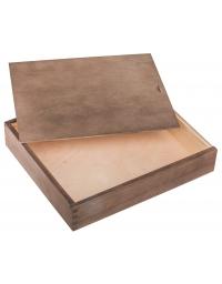 Drewniane pudełko na album 26x31cm, kolor ciemny brąz