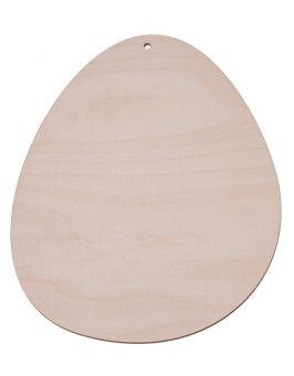 Drewniane jajko 9,5x6,5 cm