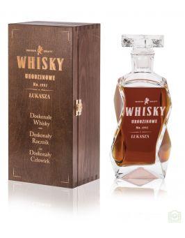 Karafka + pudełko z grawerem na URODZINY whisky