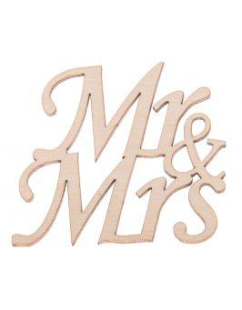 Napis Mr&Mrs ze sklejki
