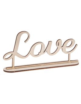 "Napis ""Love"" na podstawce"