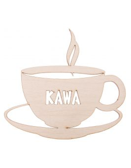 Ozdoba ze sklejki - kawa duża