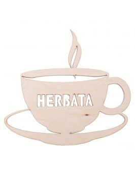 Ozdoba ze sklejki - filiżanka herbaty mała