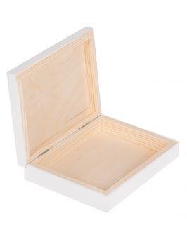Białe pudełko, szkatułka 16x12x3cm