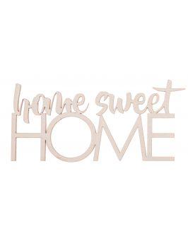 "Napis ze sklejki ""home sweet HOME"" mały"