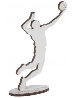 Drewniana statuetka z grawerem - SIATKARZ