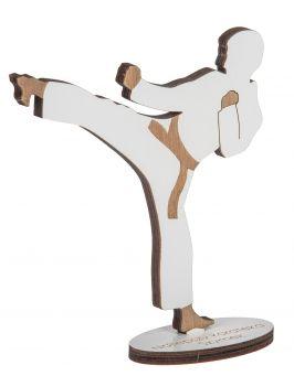 Drewniana statuetka z grawerem - KARATEKA