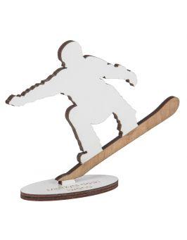Drewniana statuetka z grawerem - SNOWBOARDZISTA