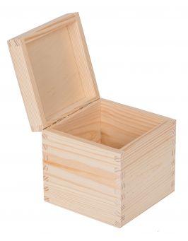 Drewniane pudełko 13x13x13,5cm