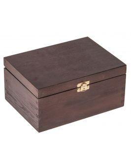 Pudełko 22x16x10,5cm ciemny brąz