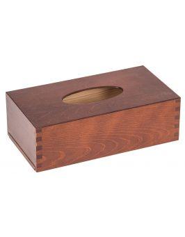 Drewniane pudełkona chusteczki ORZECH
