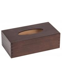 Drewniane pudełko na chusteczki - kolor ciemny brąz