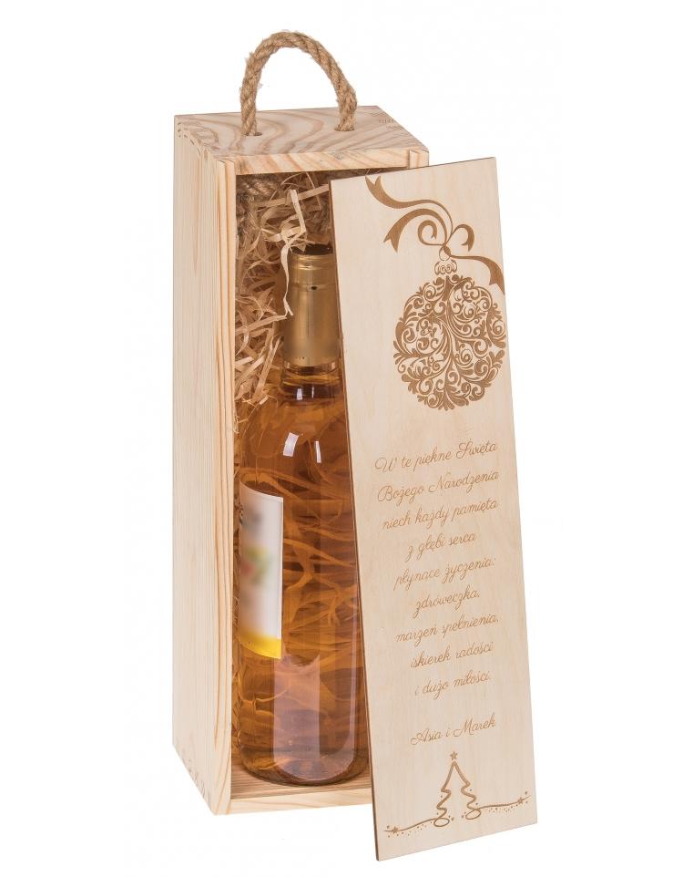 świąteczna Skrzynka Na Wino Z Grawerem Bartupl
