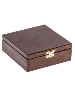 Pudełko 16x16cm ciemny brąz