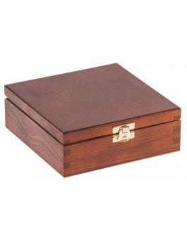 Pudełko 16x16 z zapięciem ORZECH