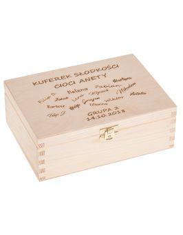 Kuferek słodkości - pudełko 22x16 z grawerem