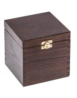 Pudełko 13x13x13,5 ciemny brąz