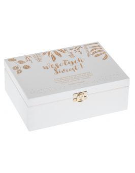 Białe pudęłko 22x16 - Wesołych Świąt