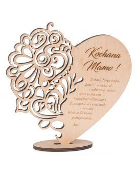 Ażurowe serce na podstawce dla Mamy