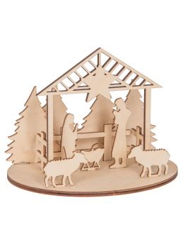 Szopka Bożonarodzeniowa do składania - mała