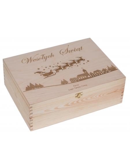 Pudełko 30x40cm z grawerem - TWOJE LOGO