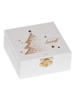 Białe pudełko 12x12cm z grawerem